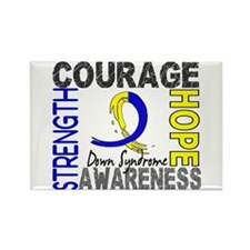 DS Courage Faith 2 Rectangle Magnet