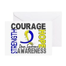 DS Courage Faith 2 Greeting Cards (Pk of 10)