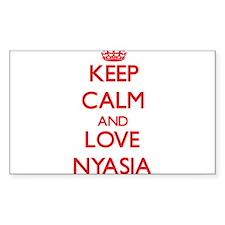 Keep Calm and Love Nyasia Decal
