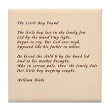 The Little Boy Lost Tile Coaster