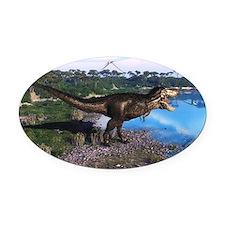 Tyrannosaurus 2 Oval Car Magnet