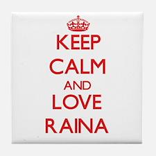 Keep Calm and Love Raina Tile Coaster