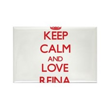 Keep Calm and Love Reina Magnets