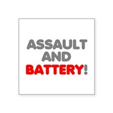Assault Battery! Sticker