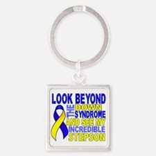 DS Look Beyond 2 Stepson Square Keychain