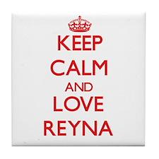 Keep Calm and Love Reyna Tile Coaster