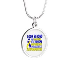 DS Look Beyond 2 Stepdaughte Silver Round Necklace