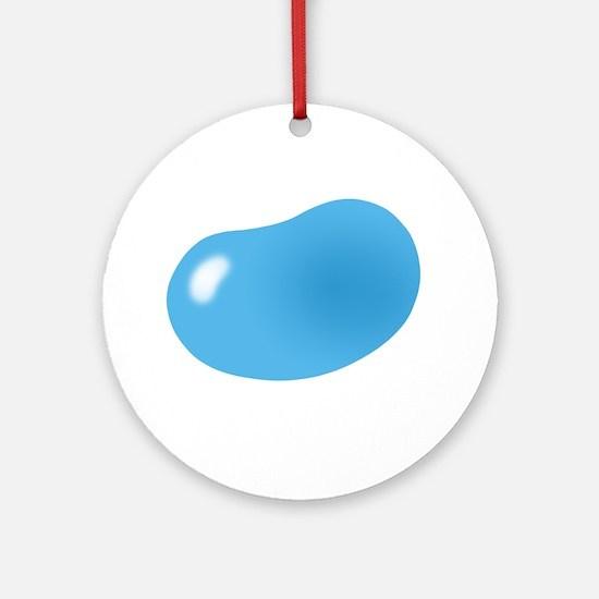 bigger jellybean blue Ornament (Round)