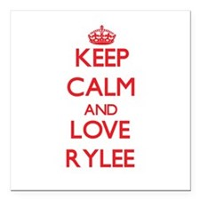 "Keep Calm and Love Rylee Square Car Magnet 3"" x 3"""