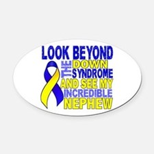 DS Look Beyond 2 Nephew Oval Car Magnet