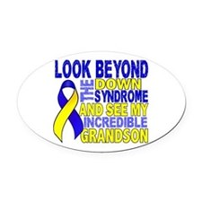 DS Look Beyond 2 Grandson Oval Car Magnet