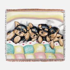 Sleeping Babies Woven Blanket