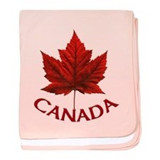 Canada Maple Leaf Souvenir Baby Blanket