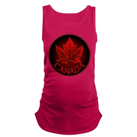 Canada Maple Leaf Souvenir Maternity Tank Top
