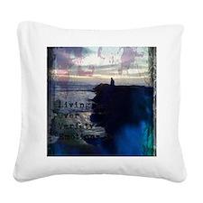 Deep Blue Love Square Canvas Pillow