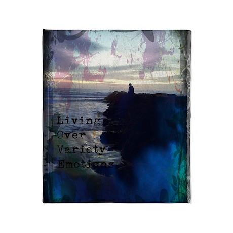 Deep Blue Love Throw Blanket