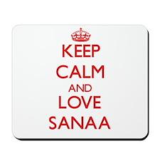 Keep Calm and Love Sanaa Mousepad