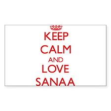 Keep Calm and Love Sanaa Decal