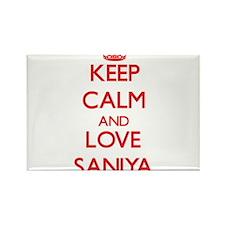 Keep Calm and Love Saniya Magnets