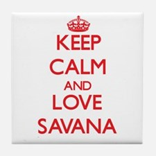 Keep Calm and Love Savana Tile Coaster