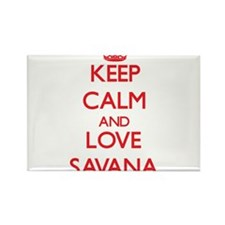 Keep Calm and Love Savana Magnets