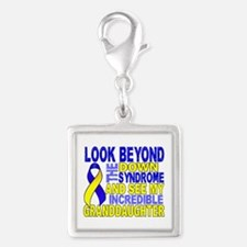 DS Look Beyond 2 Granddaughte Silver Square Charm