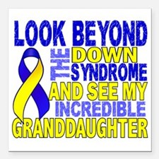 "DS Look Beyond 2 Grandda Square Car Magnet 3"" x 3"""