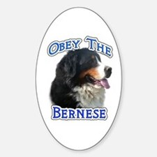 Bernese Obey Oval Decal