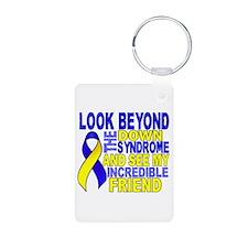DS Look Beyond 2 Friend Aluminum Photo Keychain