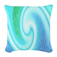 Abstract wave Woven Throw Pillow