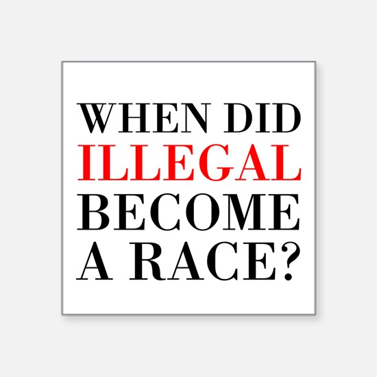 Illegal Race Sticker