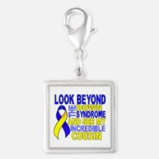 DS Look Beyond 2 Cousin Silver Square Charm