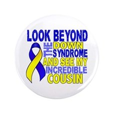"""DS Look Beyond 2 Cousin 3.5"""" Button (100 pack)"""