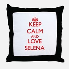 Keep Calm and Love Selena Throw Pillow