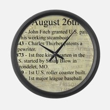 August 26th Large Wall Clock