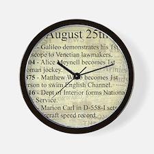 August 25th Wall Clock