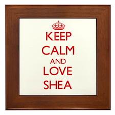 Keep Calm and Love Shea Framed Tile
