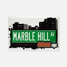 Marble Hill Av, Bronx, NYC Rectangle Magnet