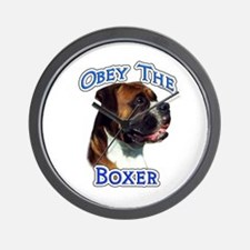 Boxer Obey Wall Clock