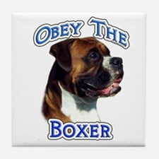 Boxer Obey Tile Coaster