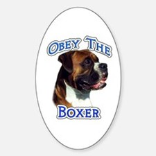 Boxer Obey Oval Decal