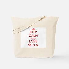 Keep Calm and Love Skyla Tote Bag