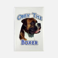 Boxer Obey Rectangle Magnet
