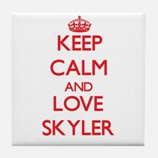 Keep Calm and Love Skyler Tile Coaster