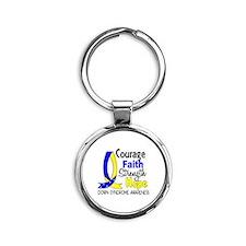 DS Courage Faith 1 Round Keychain