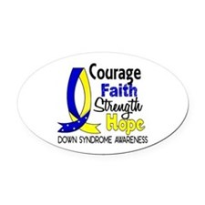 DS Courage Faith 1 Oval Car Magnet