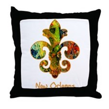 Painted Fleur de lis (2) Throw Pillow