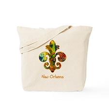 Painted Fleur de lis (2) Tote Bag
