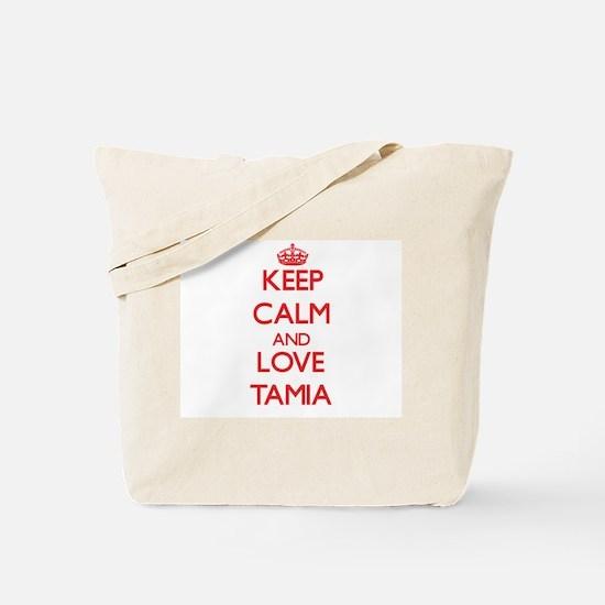 Keep Calm and Love Tamia Tote Bag