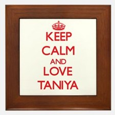 Keep Calm and Love Taniya Framed Tile